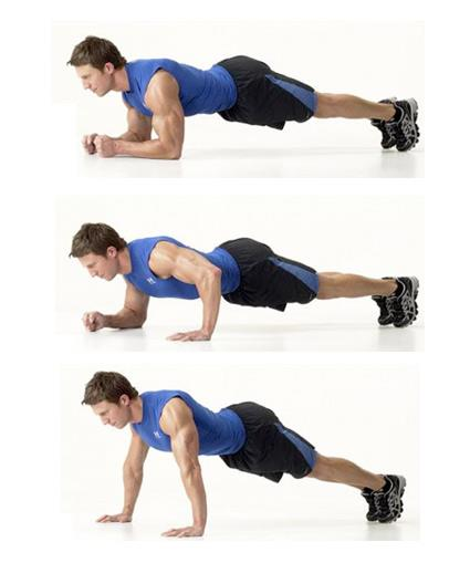 How to do a plank push-up?